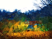 Pittsburgh Mixed Media Prints - Coraopolis from the River Print by Chris Reed