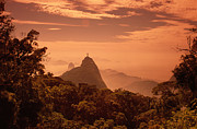 Redeemer Art - Corcovado Statue On Hilltop by Silvestre Machado