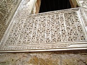 Spanish Synagogue Photos - Cordoba 14th C Synagogue Wall Remains in Jewish Quarter Spain by John A Shiron