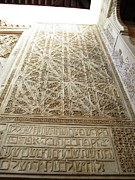 Spanish Synagogue Photos - Cordoba 14th Century Synagogue Wall Hebrew Letters Spelling Jerusalem Spain by John A Shiron