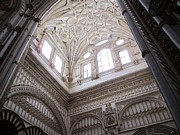 Star Of David Photos - Cordoba Cathedral Ancient Ornate Ceiling IV Spain by John A Shiron