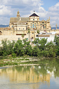 Cordoba Photos - Cordoba Cathedral and Guadalquivir River by Artur Bogacki