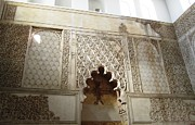 Spanish Synagogue Photos - Cordoba Jewish Quarter Synagogue Wall Hebrew Scripture Spain by John A Shiron