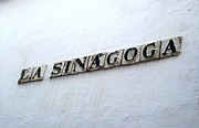 Spanish Synagogue Photos - Cordoba La Sinagoga Synagogue Tile Sign Spain by John A Shiron