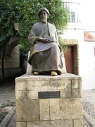 Spanish Synagogue Photos - Cordoba Maimonides Statue or Moses ben Maimon aka Rambam Jewish Quarter VIII Spain by John A Shiron