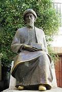 Spanish Synagogue Photos - Cordoba Maimonides Statue or Moses ben Maimon aka Rambam Jewish Quarter X Spain by John A Shiron