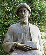 Spanish Synagogue Photos - Cordoba Maimonides Statue or Moses ben Maimon aka Rambam Jewish Quarter XI Spain by John A Shiron