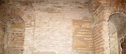 Spanish Synagogue Photos - Cordoba Synagogue Interior Brick Wall Remains Spain by John A Shiron