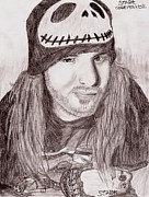 Corey Drawings - Corey Taylor by Shia Hemsworth