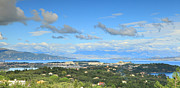 Corfu Posters - Corfu panorama Poster by Paul Cowan