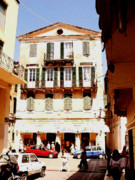 Corfu Prints - Corfu Shopping Print by David Bearden
