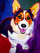 Dog Art Paintings - Corgi - Taste the Rainbow by Alicia VanNoy Call