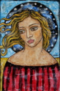 Christian Art . Devotional Art Painting Prints - Corine Print by Rain Ririn