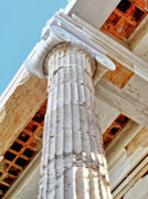 Athens Prints - Corinthian Architecture Print by Linda Pulvermacher