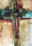 Crucifix Art Painting Metal Prints - Corinthians Metal Print by Michel  Keck