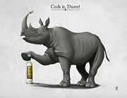 Rhinoceros Digital Art Framed Prints - Cork it Durer Framed Print by Rob Snow