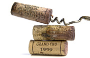 Bottled Photo Prints - Cork of french wine Print by Bernard Jaubert