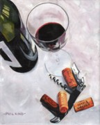 Wine Glass Pastels - Corkage by Phil  King