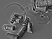 Syrah Photo Metal Prints - Corks 3 Metal Print by Cheryl Young