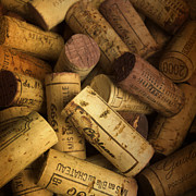 Grand Vin Prints - Corks Print by Bernard Jaubert