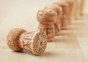 Bottle Cap Framed Prints - Corks, Close-up Framed Print by STOCK4B Creative