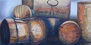 Virginia Wine Paintings - Corks by Donna Tuten