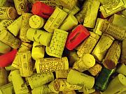 Anna Villarreal Garbis Prints - Corks I Print by Anna Villarreal Garbis