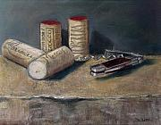 Corks Originals - Corks number 5 by Ellen Minter