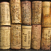Grand Vin Prints - Corks of fench vine of Bordeaux Print by Bernard Jaubert