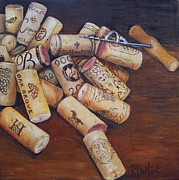 Corkscrew Paintings - Corks by Patricia DeHart