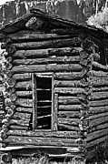 Corn Crib Photo Posters - Corn Crib B-W Poster by Juls Adams