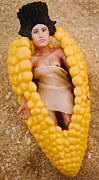 Vegetables Ceramics - Corn Diva by Frederick Dost