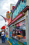 Local Food Photo Prints - Corn Dogs Print by Skip Willits