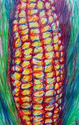 Agriculture Drawings - Corn by Nell Stockdall