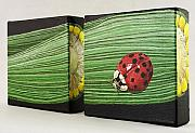 Ladybug Sculpture Posters - Corn Poster by Taunya Bruns