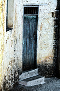 Cypriotic Photos - Corner Blue Door by John Rizzuto