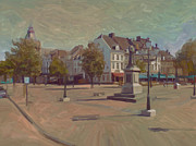 Limburg Metal Prints - Corner Bosch Street and Market Maastricht Metal Print by Nop Briex