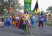 Mardi Gras Prints - Corner Club 3 -Mardi Gras New Orleans Print by Kathleen K Parker