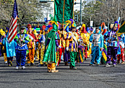 Kathleen K Parker Metal Prints - Corner Club Marching Group - Mardi Gras in New Orleans Metal Print by Kathleen K Parker