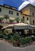 Greve In Chianti Photo Framed Prints - Corner Gelateria Framed Print by Kathy Yates