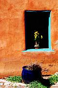 Sienna Photo Framed Prints - Corner in Santa Fe NM Framed Print by Susanne Van Hulst