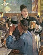 Beer Painting Prints - Corner of a Cafe-Concert Print by Edouard Manet