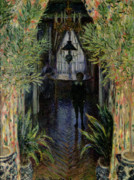 Chandelier Posters - Corner of a Flat at Argenteuil Poster by Claude Monet