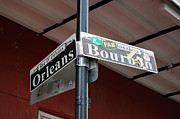 Corner Of Bourbon Street And Orleans Sign French Quarter New Orleans Print by Shawn OBrien