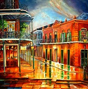Balconies Paintings - Corner of Jackson Square by Diane Millsap