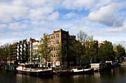 Boathouse Prints - Corner of Prinsengracht and Brouwersgracht Print by Fabrizio Troiani