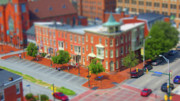 Tilt Shift Posters - Corner of Second and State Streets Poster by Shelley Neff