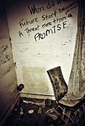 Street Photographer Photographs Prints - Corner Of Threat  Print by Jerry Cordeiro