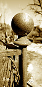 Old Fence Post Posters - Corner Post Poster by Cheryl Young