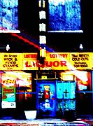 City Streets Digital Art Framed Prints - Corner Store Framed Print by Albert Stewart
